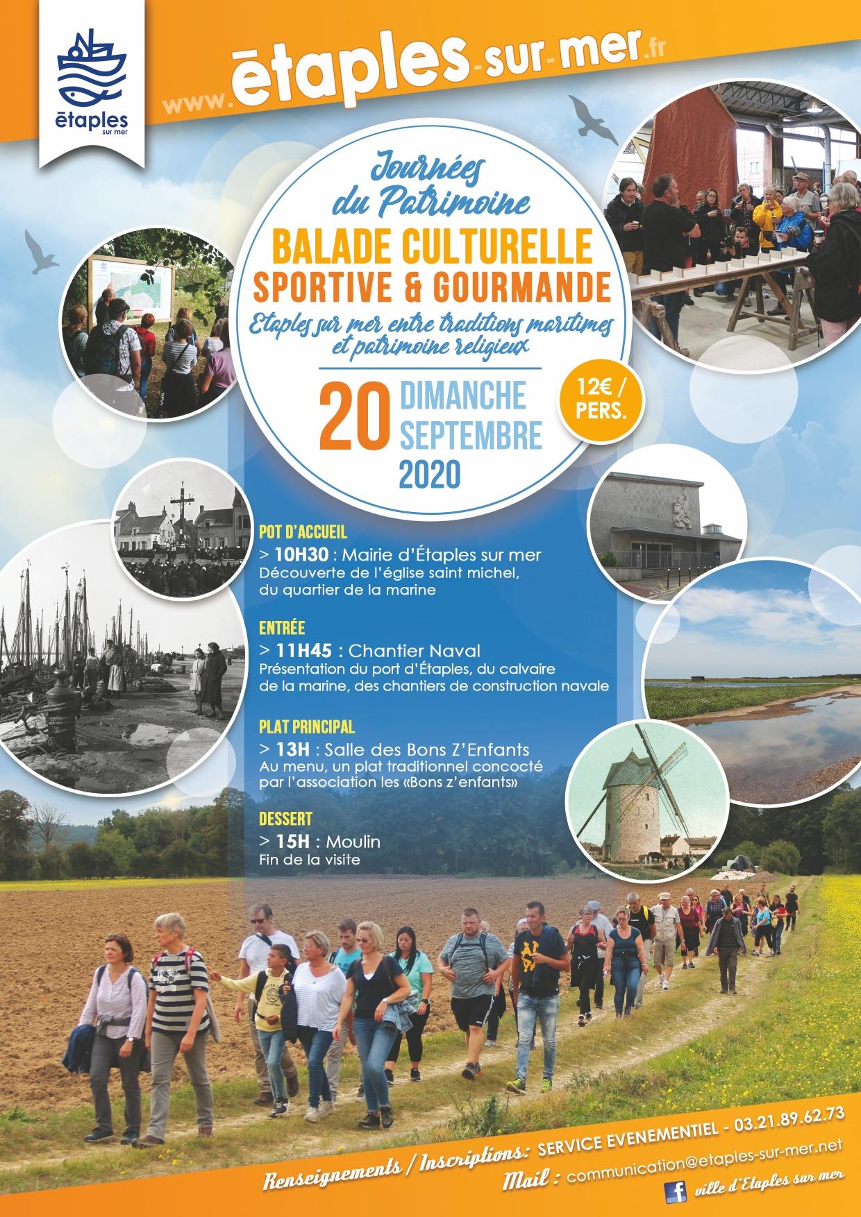 JOURNÉES EUROPÉENNES DU PATRIMOINE : BALADE CULTURELLE, SPORTIVE & GOURMANDE