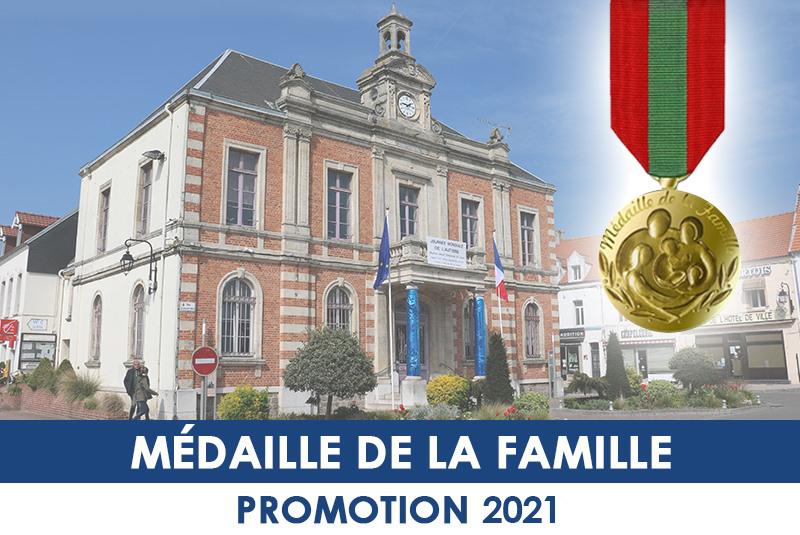 MÉDAILLE DE LA FAMILLE - PROMOTION 2021