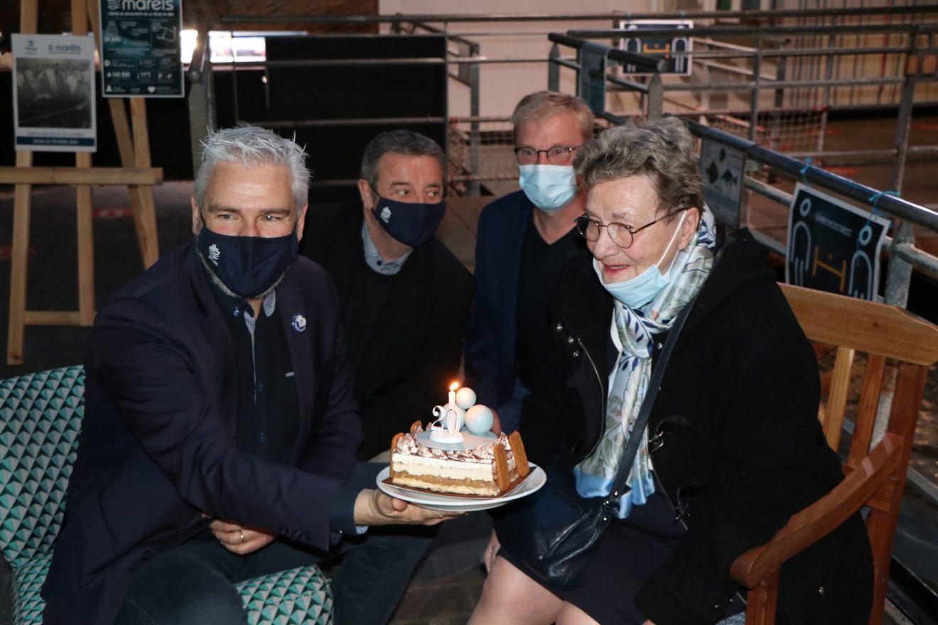 THÉRÈSE GUERVILLE SOUFFLE LES 20 BOUGIES DE MARÉIS